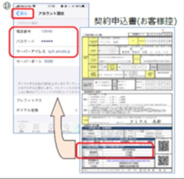 電話番号の設定(3)<